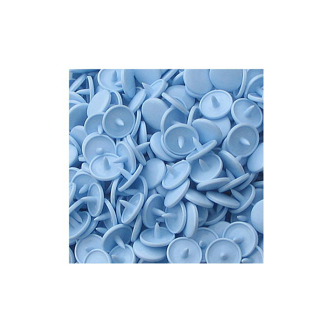 Pressions KAM T1 - Bleu clair B20 - 100 jeux RONDS