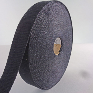 Cotton Webbing 30mm Black (15m roll)
