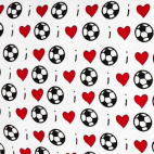 Cotton woven Love Football Timeless Treasures (per 10cm)