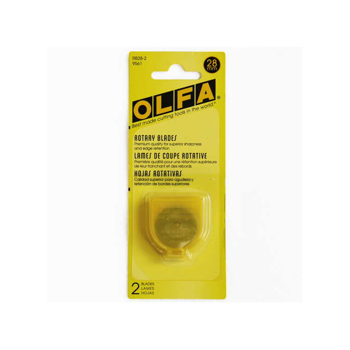 OLFA blades - for Rotary cutter - 28mm (2 blades)