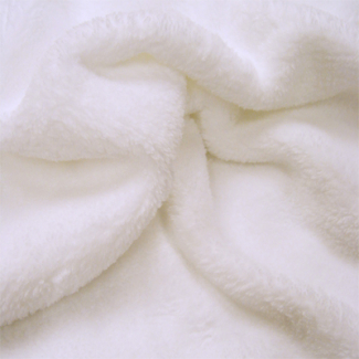 Teddy Oekotex - White - width 160cm (per meter)
