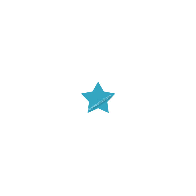Pressions KAM T5 - Turquoise B46 - 20 jeux ETOILES