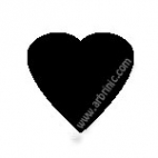 KAM Snaps T5 - Black B5 - 20 HEART sets