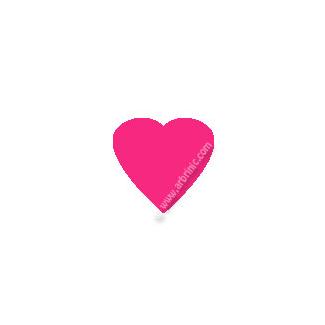 KAM Snaps T5 - Hot Pink B47 - 20 HEART sets