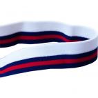 FOE 1 inch Print Stripes red/navy (1m)