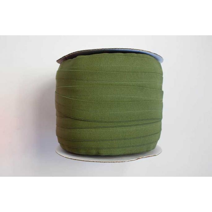 Biais élastique 2.5cm Vert olive (Bobine 100m)