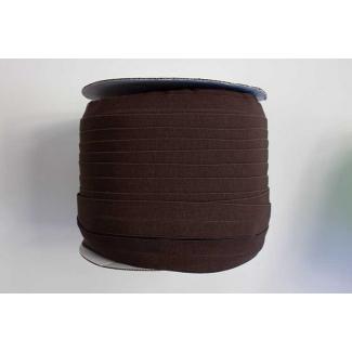 Biais élastique 2.5cm Chocolat foncé (Bobine 100m)