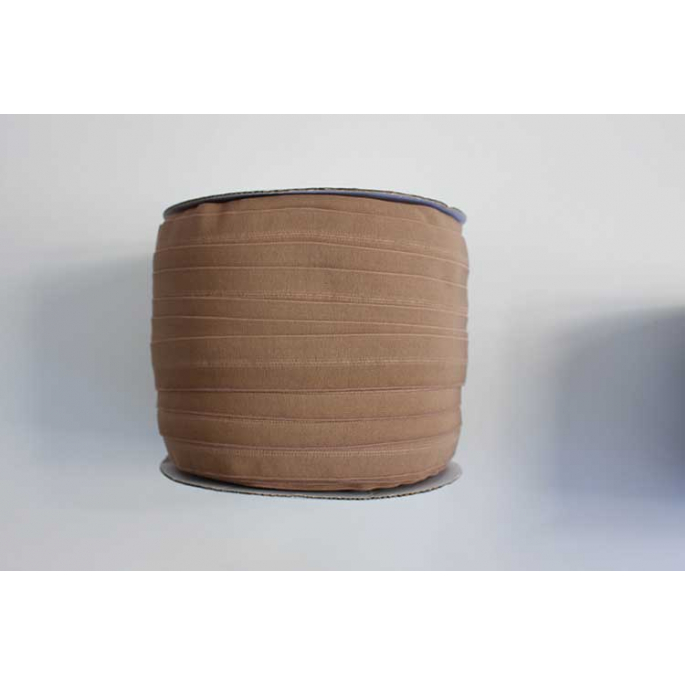 Fold Over Elastic 1 inch Light chocolate (100m roll)
