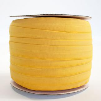 Biais élastique 2.5cm Jaune bouton d'or (Bobine 100m)