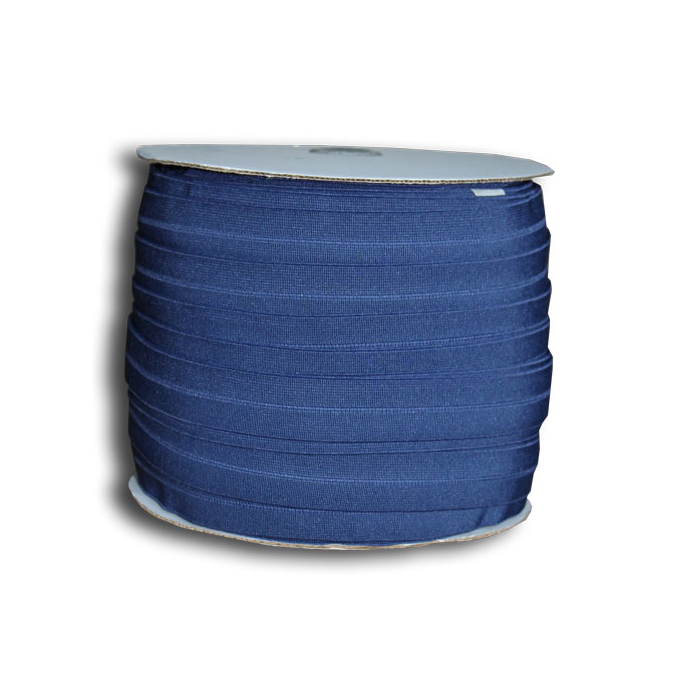Biais élastique 2.5cm Bleu marine (Bobine 100m)
