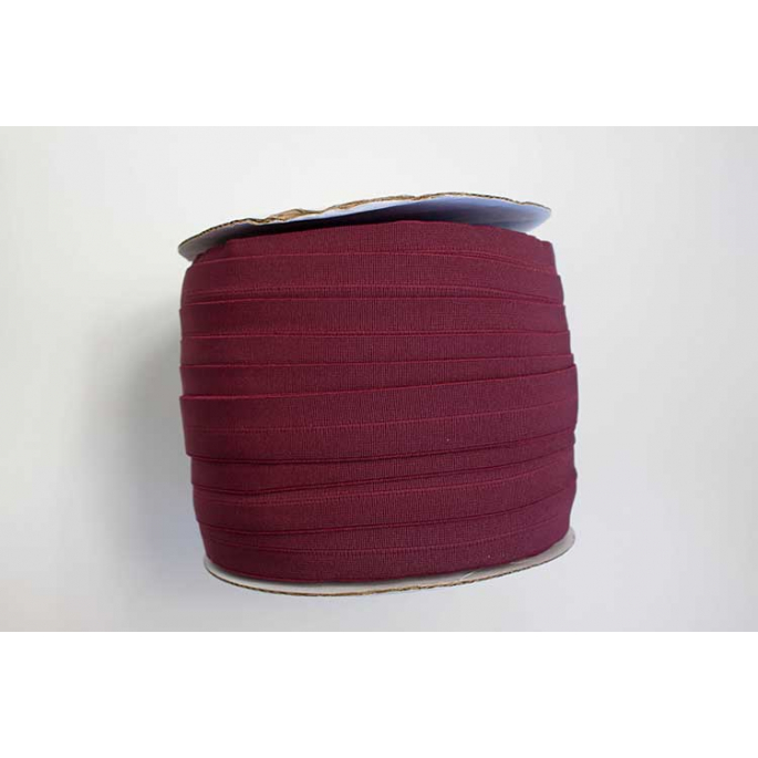 Fold Over Elastic 1 inch Burgundy (100m roll)