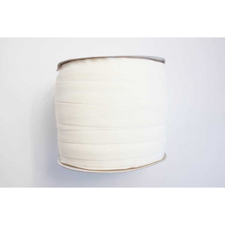 Fold Over Elastic 1 inch Eggshell Ecru (100m roll)