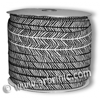 Fold Over Elastic 2.5cm / Zebra (100m roll)
