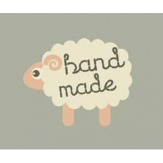 "10 woven labels ""Hand made"" Sheep"