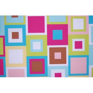 Minky - Cubes Turquoise - Robert Kaufman (au mètre)