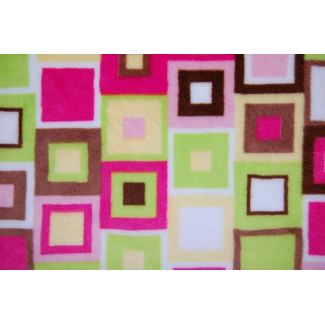 Minky - Cubes Kiwi - Robert Kaufman (per meter)
