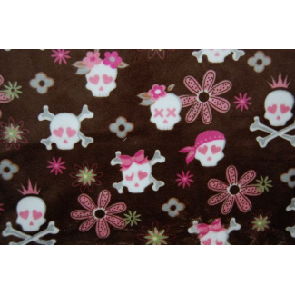 Minky - Pirates Chocolate - Robert Kaufman (per meter)