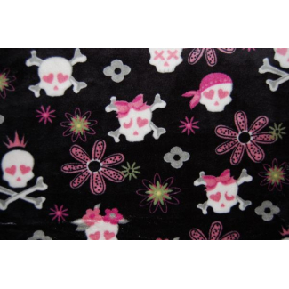 Minky - Pirates Black - Robert Kaufman (per meter)