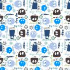 Interlock - Ooga Booga Bleu (au mètre)