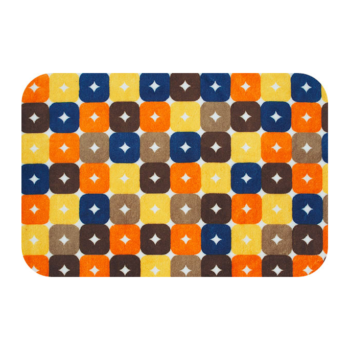 Minky - Brown Orange Foxy Boxy - Robert Kaufman (per meter)