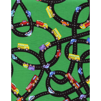Cotton woven Car tracks Timeless Treasures (per 10cm)