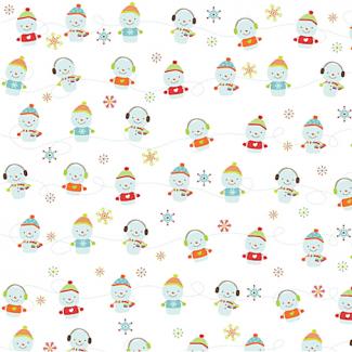 Coton imprimé Bonhommes de neige Riley Blake (par 10cm)