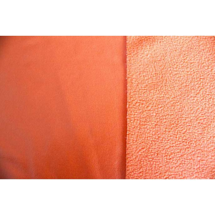 PUL microfleece Orange width 130cm (per 10cm)