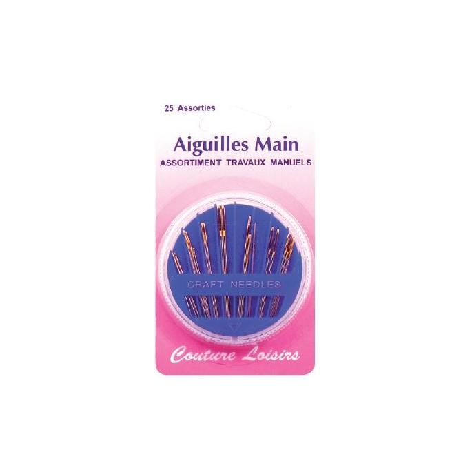 Aiguilles Main pour travaux manuels Assortiment (x25)