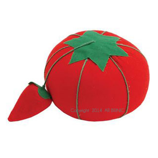 Tomato Pin Cushion with emery strawberry