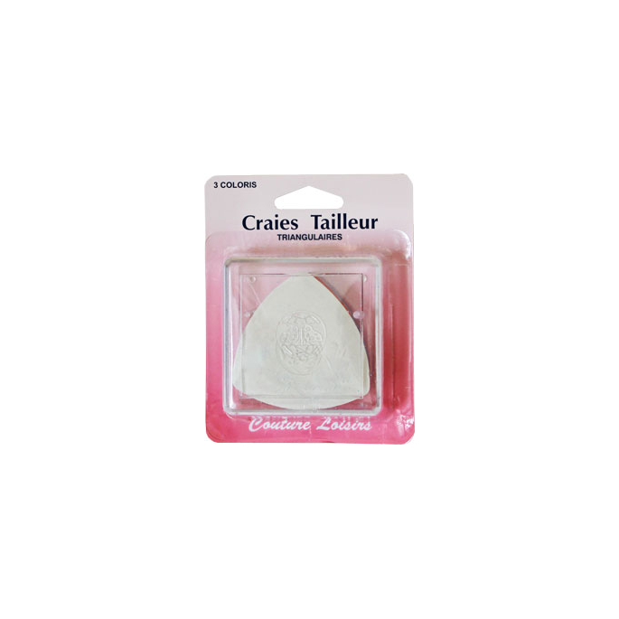 Triangle Marking Chalks x3 (white, red, blue)