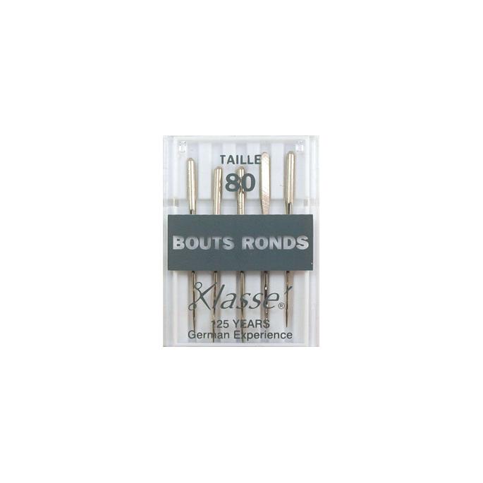 Aiguilles Machine Bouts ronds - 80/12 (x5)