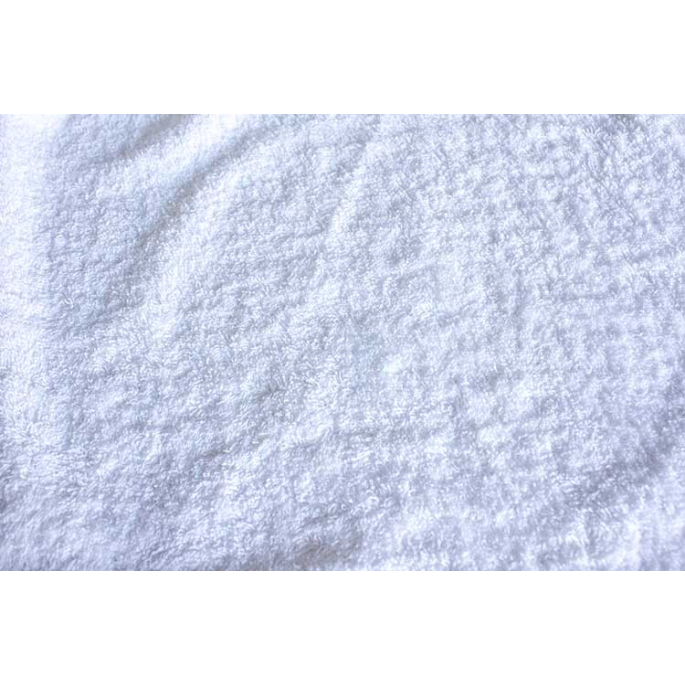 Eponge de coton Oekotex Laize 160cm Blanc (au mètre)