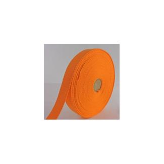 Cotton Webbing 30mm Orange (15m roll)