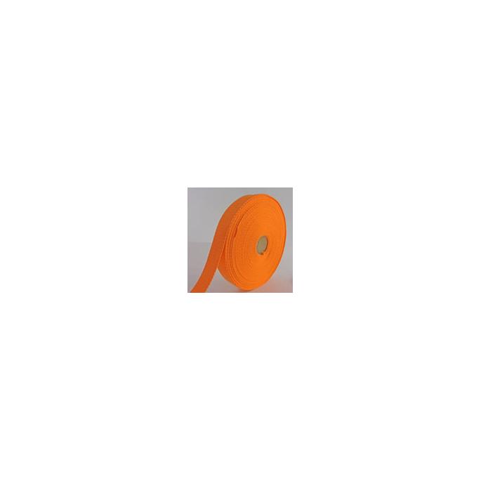 Sangle coton 30mm Orange (bobine 15m)