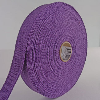 Cotton Webbing 23mm Purple (15m roll)