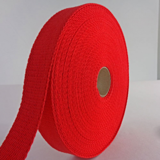 Sangle coton 23mm Rouge (bobine 15m)