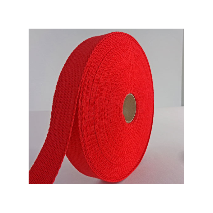 Sangle coton 23mm Rouge (bobine 15m)