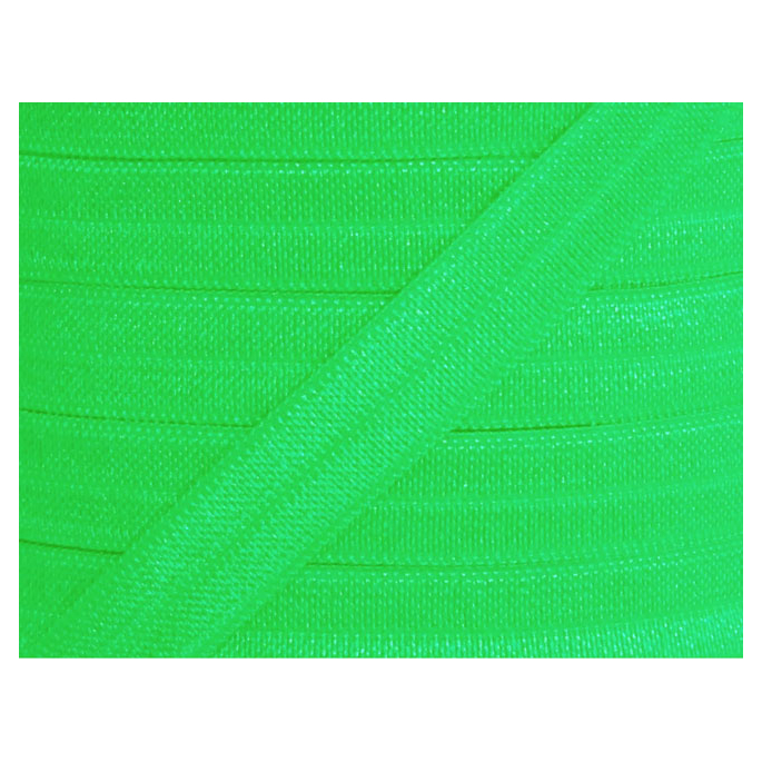 Shinny Fold Over Elastic Oekotex 15mm Apple Green (25m bobin)