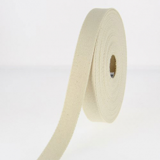 Cotton Webbing 30mm Ecru (by meter)