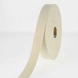 Cotton Webbing 30mm Ecru (by meter)