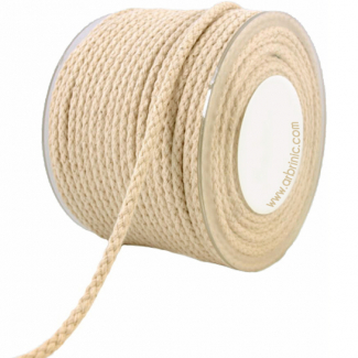 Braided Cotton Cord - 8mm (25m bobin)