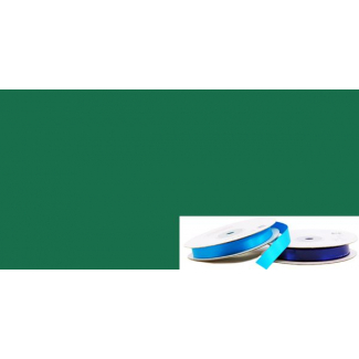 Ruban Satin 13mm Vert Foncé (rouleau 20m)