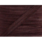 Biais élastique lingerie Oekotex 15mm marron (bobine 25m)