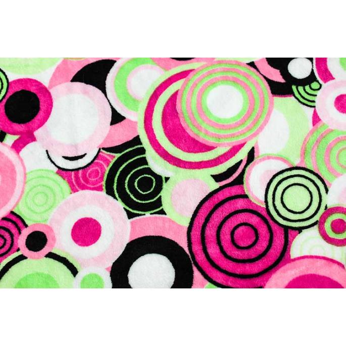 Minky - Pop Dots Pink - Robert Kaufman (per meter)