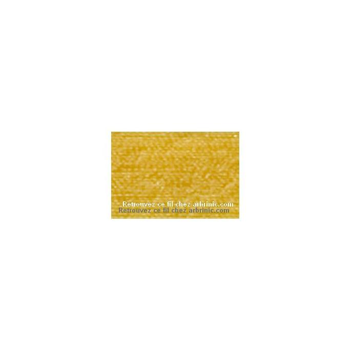 Fil polyester Mettler 200m Couleur n°0120 Jaune Soleil