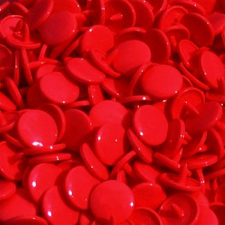 KAM Snaps size 20 Long Prong - Dark red B54 - 100 full sets