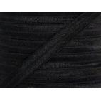 Biais élastique lingerie Oekotex 15mm noir (au mètre)