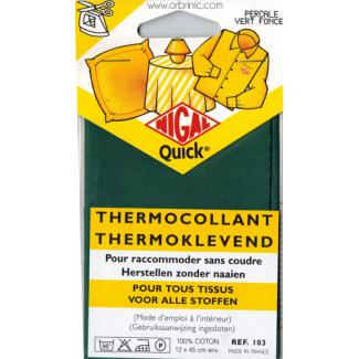 Pièce thermocollante NIGAL Quick - percale coton Vert Foncé