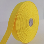 Sangle coton 30mm Jaune (bobine 15m)