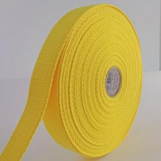 Sangle coton 30mm Jaune (bobine 15m)